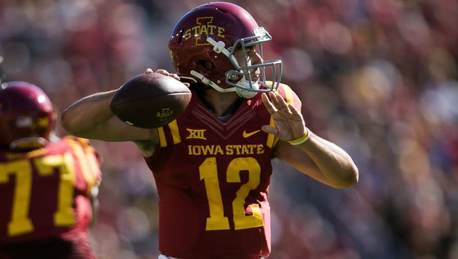 Iowa State's Sam Richardson during their game against Iowa in Ames on Saturday, September 12, 2015. Iowa would go on to win 31-17.