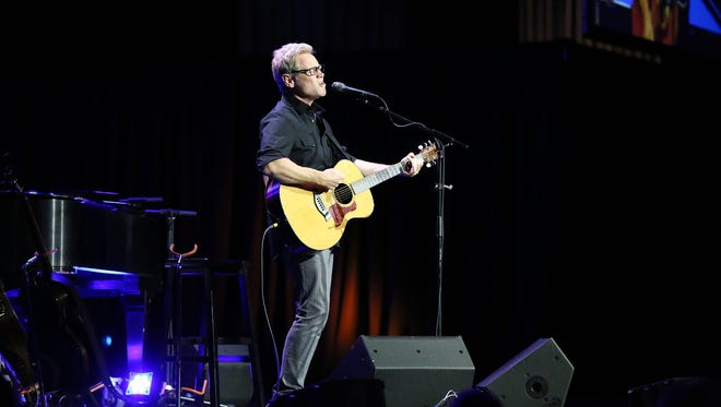 Stephen Curtis Chapman gives a concert during Canstruction 2015, held Thursday night at the Carl Perkins Civic Center.
