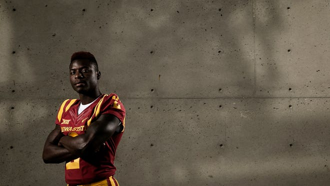 Running Back Mike Warren poses for a portrait during media day at Iowa State University in Ames on Thursday, August 6, 2015.