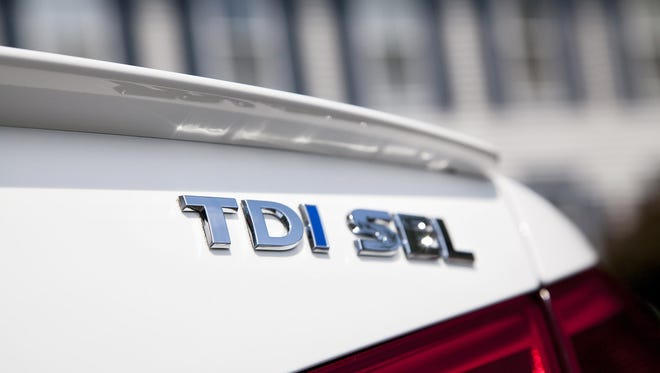 VW's Passat TDI diesel-powered sedan is one of the vehicles affected
