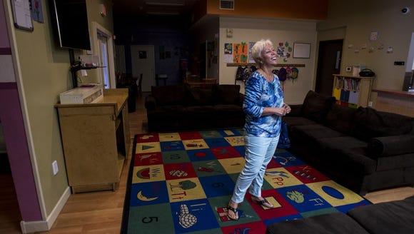 Christine Scarpati at the Child Crisis Center in September