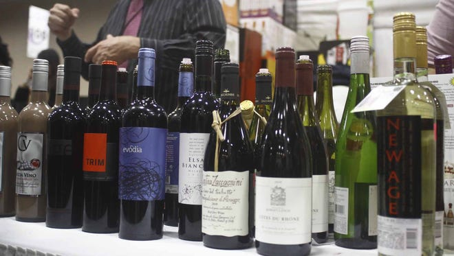 A wide variety of wine was on hand at the Iowas Premier Beer, Wine & Food Expo at the Iowa Event's Center on Friday, Nov. 8, in Des Moines. JOSH HARRELL/SPECIAL TO JUICE
