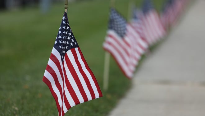 The Village Retirement Community in Indianola marked Veterans Day with a display of U.S. flags throughout the grounds.