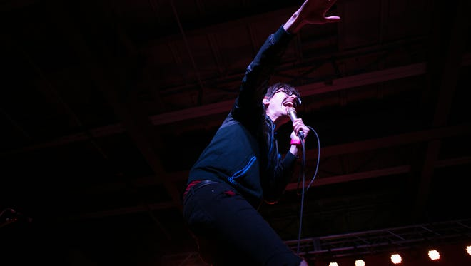 Joywave vocalist Daniel Armbruster performs at Anthology on East Avenue in Rochester on Saturday, October 10, 2015.