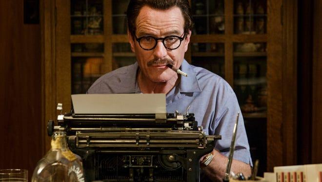 "Bryan Cranston is blacklisted screenwriter n the film ""Trumbo."""