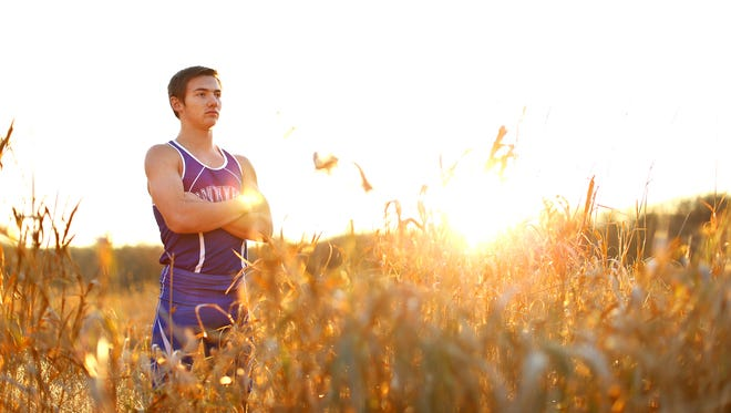 Green Bay Southwest's Alec Basten is the Press-Gazette Media's boys cross-country runner of the year. Basten is shown at He-Nis-Ra Park in Green Bay on Tuesday, Nov. 24, 2015.