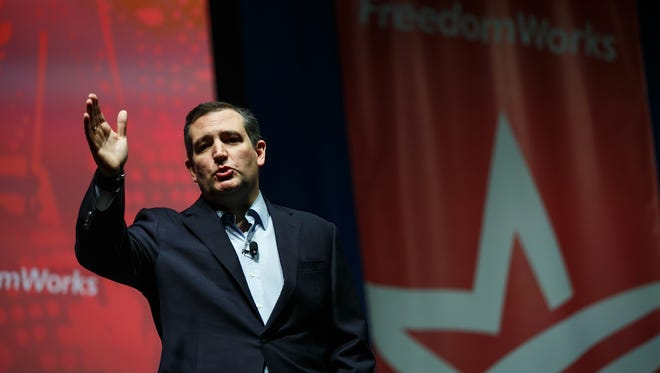 Republican presidential candidate Ted Cruz speaks during the Rising Tide Summit at The U.S. Cellular Center on Saturday, Dec. 5, 2015 in Cedar Rapids, Iowa.
