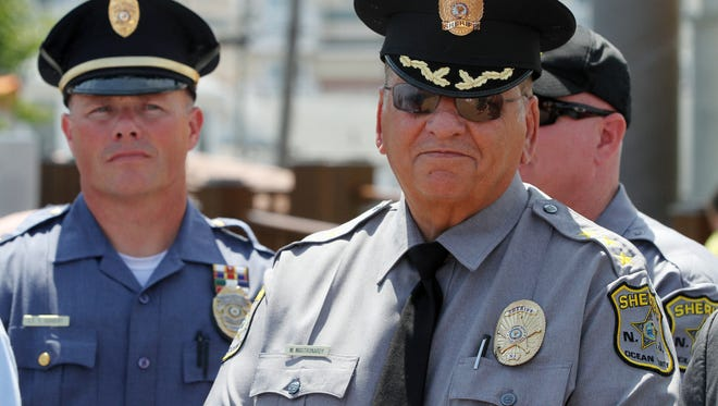 Ocean County Sheriff Michael G. Mastronardy (right) said more than 900 children in Ocean County will get presents this Christmas through his department's annual toy drive this year.