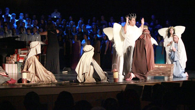 CASHS Glee Club performs The Christmas Story and its live nativity tableau in a past Holiday Concert. The school district decided this week to allow the show to go on as planned instead of eliminating the live nativity scene from the annual production.