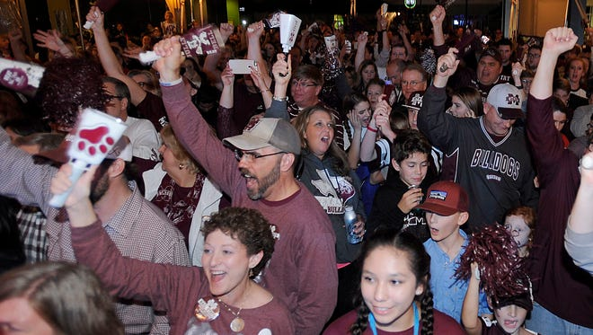 Mississippi State fans gathered together for the Belk Bowl Fan Central celebration on Tuesday night at the EpiCentre in Charlotte.