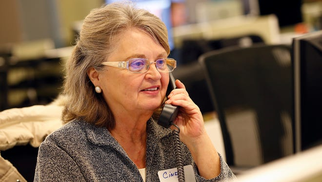 Call for Action volunteer Cindy speaks to a caller Jan. 12, 2016.