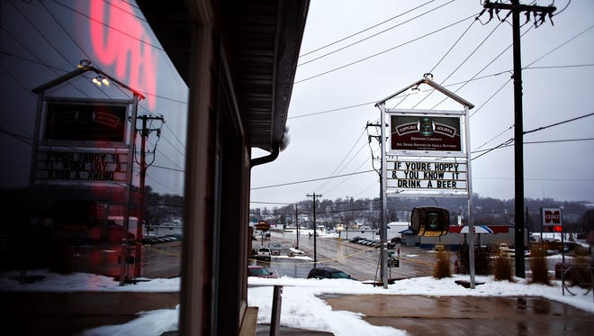 The Toppling Goliath taproom on Friday, Jan. 8, 2016, in Decorah. The building has been used for everything from a floral shop to a pizza place before becoming a destination for beer lovers.