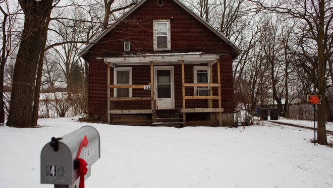 The home at 1413 Pioneer Road where there was a homicide on Sunday at 4:30 a.m on Monday, Jan. 25, 2016, in Des Moines.