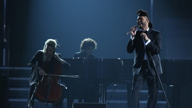 The Weeknd performed early during the Grammy ceremony Monday, but some CBS All Access subscribers said they couldn't stream the show.