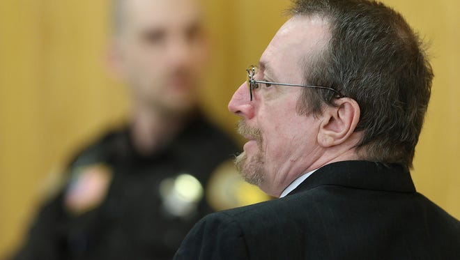 Joseph Reinwand, 56, appears in Portage County Circuit Court in Stevens Point, Monday, Feb. 22, 2016. He is accused of shooting and killing his wife, Pamela, 19, at their home in Plover on May 13, 1984.