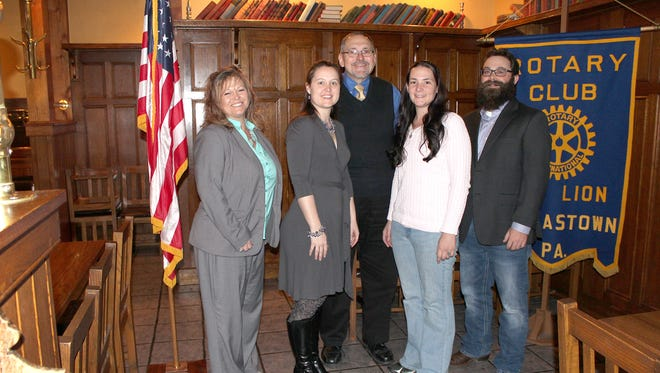 Pictured, from left, are: Joellen Hynson, banker at Northwest Saving Bank; Heather Goebeler, executive director of the Red Lion Area Senior Center; Kim McChalicher, insurance agent for H.N. Fishel & Associates; Kim Bowen, administrative assistant at Aquatic Resource Restoration Company; and Justin Kauffman, project manager at Aquatic Resource Restoration Company.
