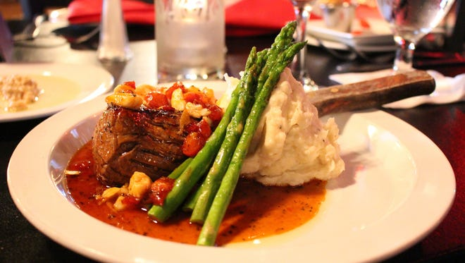 The style, music and food is out loud Rock n' Roll at Yabo. Here the 8-ounce fillet is topped with crab, goat cheese and a sweet pepper demi-glace.