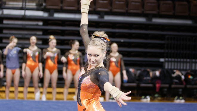 Central York's Victoria Heath started as a walk-on freshman for the Bowling Green University gymnastics team, but her hard work as a sophomore earned her a scholarship this season. The junior competes in the vault, floor exercise and balance beam.