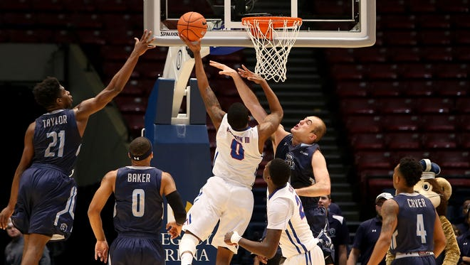 Louisiana Tech guard Alex Hamilton drives to the basket in Thursday's loss to Old Dominion in the Conference USA quarterfinals.