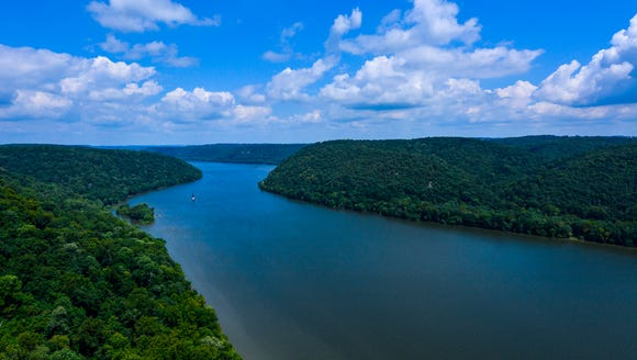 The Susquehanna River is shown looking north from Safe