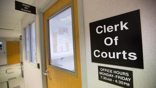 The Portage County Clerk of Courts office in Stevens Point, Friday, March 18, 2016.