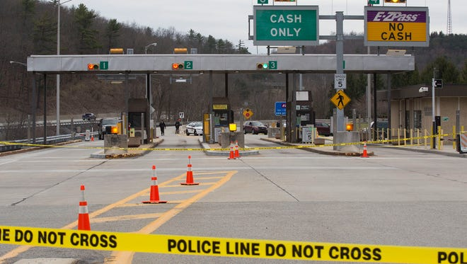 """Pennsylvania State Police investigate an armed robbery attempt at the Ft. Littleton Turnpike toll booth that killed a Turnpike employee, and a subcontractor fare collector security guard. The actor, Clarence D. Briggs was shot and killed by State Police."""