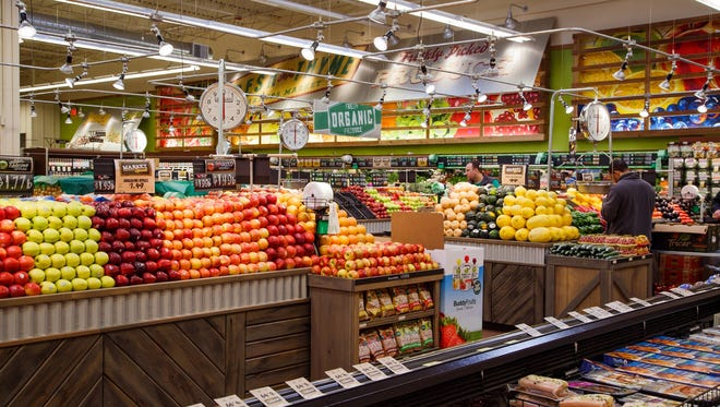 The new Fresh Thyme Grocery store in West Des Moines on Tuesday, March 22, 2016 in West Des Moines, Iowa. Focusing on fresh produce and quality meats, the Downers Grove, Ill. based company is expanding throughout the midwest, including this store which opens Wednesday.