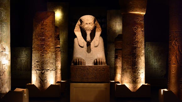 In the Egyptian Sphinx wing, lighting around the Sphinx of Ramesses II makes it even more mystical.
