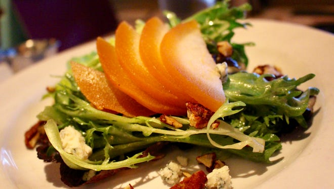 The Asian Pear salad at A Table Apart is a study in contrasts between sweet and salty, crisp and creamy.