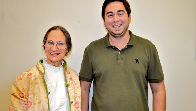 Newly-elected chairperson Marcia Wilson, left, stands next to Cory Samek, newly-elected vice chairman.