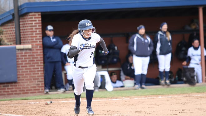 William Penn graduate Cheyanne Brown is batting .492 for Lebanon Valley College softball and a standout on the track team.