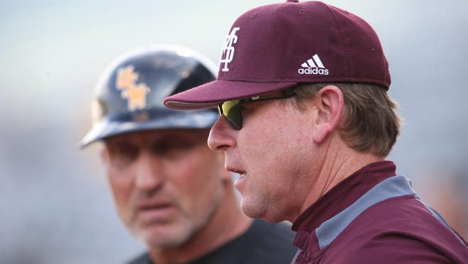 Mississippi State coach John Cohen, right, has his team positioned for a national seed.
