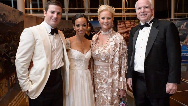 Sen. John and Cindy McCain, shown here at Jack McCain's wedding, remain the wealthiest members of the Arizona congressional delegation