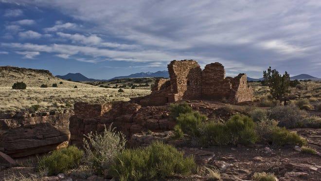 WUPATKI NATIONAL MONUMENT: Lomaki Pueblo at Wupatki National Monument.