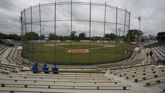 A view behind home plate at Loeb Stadium.