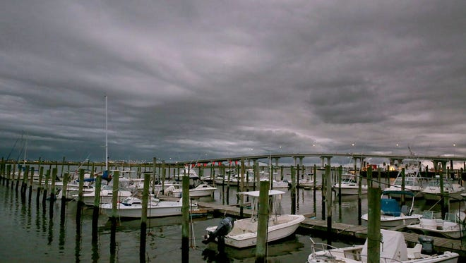 Things could turn stormy for stocks in June. Clouds  move into Somers Point, N.J. on Sept. 30, 2015.