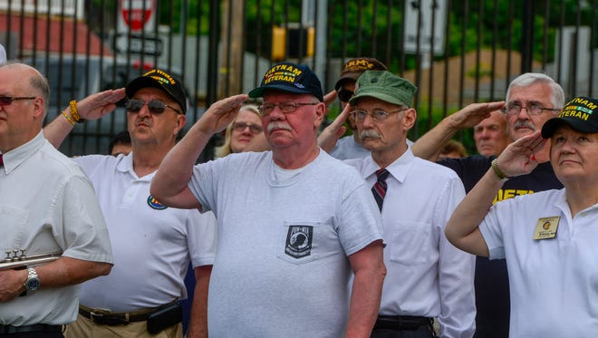 York County honors and remembers our fallen with a Memorial Day ceremony at the York County Vietnam Veteran Memorial, Monday, May 30, 2016.John A. Pavoncello photo