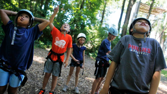 Try out the high ropes course during open climb at Mountain Roundtop Resort.
