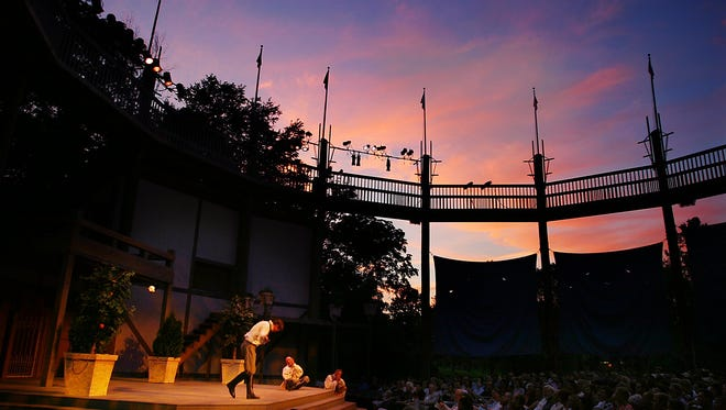 Jackson Doran takes a bow after performing at Shakespeare in the Park in 2004..