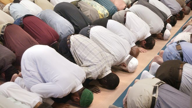 A mosque among the places that will be visited during the 'Tour of Faiths,' offered by the Atlantic Institute. In this file photo, Muslims pray during the Muslim service at the Greenville Mosque