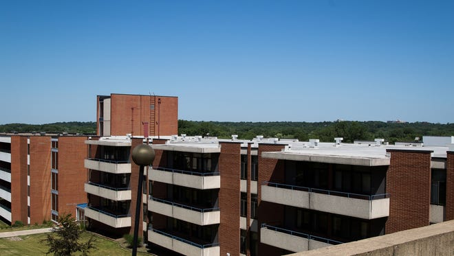 The old campus of AIB is about to become The Iowa Center for Higher Education with new ownership from the University of Iowa. The school is not planning to use the residence halls, seen here on Friday, June 17, 2016, right away- but do plan on keeping them for use in the future.