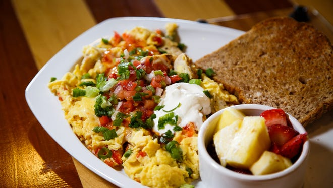 The fajita chicken scramble at the Main Street Cafe and Bakery on Tuesday, June 28, 2016 in Ankeny.