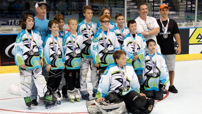 The Gulf Coast Eagles defeated the North Naples Lightning 6-2 in the Squirt Silver Club championship game during the NARCh finals at Germain Arena on Tuesday, July 21, 2015. (J. Scott Butherus/Naples Daily News)