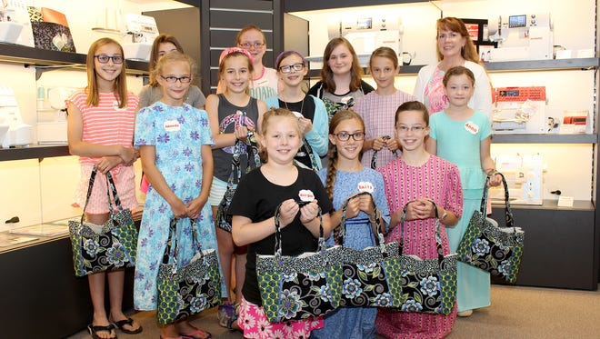 Danner's Sew Camp participants, front row, from left, are: Morgan Brown, Emily Lehigh, Katelyn Lehigh; middle row: Amanda Nell, Madison Yohe, Josie Resh, Grace Nell, Anna Hade; back row: Jordyn Nace, Ashlynn Tober, Breanna Barstow, Claire Mlinek and Barbara Hura (instructor).
