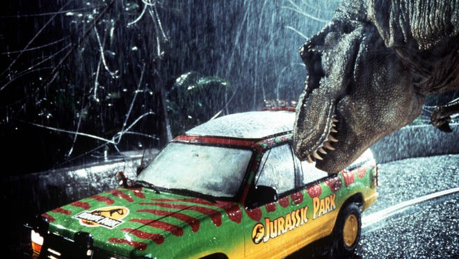 """A scene from """"Jurassic Park,"""" one of the shows in a throwback series this summer at Marcus Parkwood Theatre."""