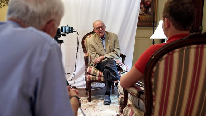 Wayne Smith, a Vietnam War veteran, is interviewed as a part of the Veterans History Project for the Library of Congress on Tuesday, August 9, 2016. As a pilot in the Air Force, Smith flew 90 F-4 fighter combat missions during the Vietnam War and was shot down in 1968. Smith was a prisoner of war for five years and two months.