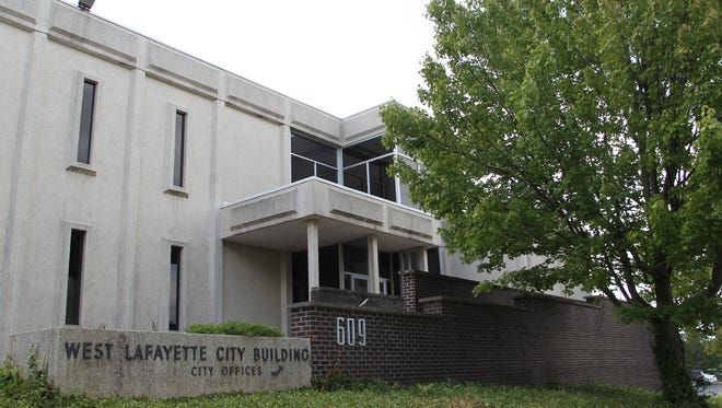 The empty West Lafayette City Hall Tuesday, August 2, 2016, in West Lafayette. The building is to be torn down before the end of November
