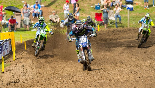 Aaron Plessinger competes in Crawfordsville.