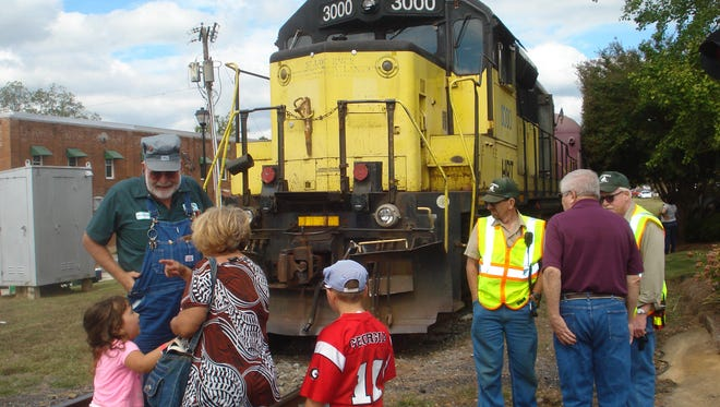 Train rides are offered at the Lavonia Fall Festival.