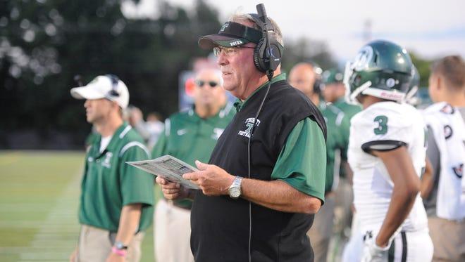 Head coach Bob Beatty during theTrinity football game against Lafayette in Lexington, KY on Friday, September 3, 2016.